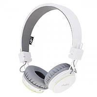 Беспроводные Bluetooth Наушники с MP3 плеером NIA-X2 Радио блютуз Белые