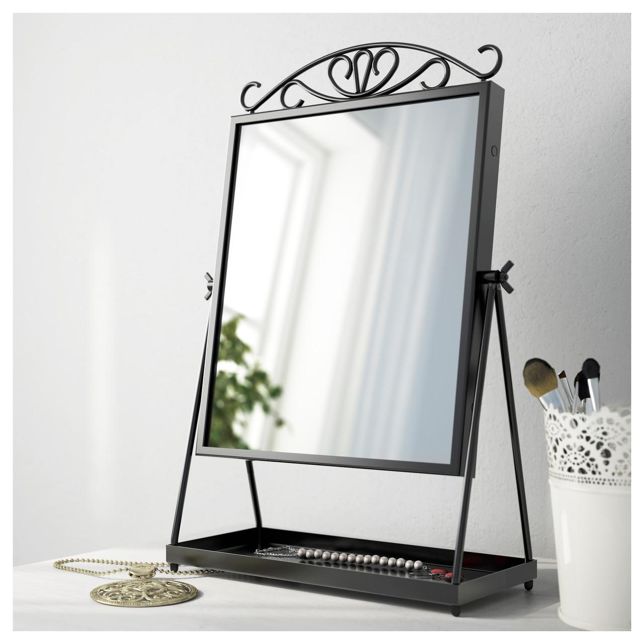 Зеркало настольное IKEA KARMSUND черный 002.949.79