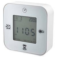 KLOCKIS Часы/термометр/будильник/таймер, белый 802.770.04