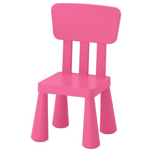 Детский стул MAMMUT, для помещения и на открытого воздуха, розовый, IKEA, 803.823.21