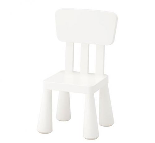 Детский стул MAMMUT, для помещения и на открытого воздуха, белый, IKEA, 403.653.71