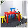 Стол детский для дома или улицы MAMMUT, белый, IKEA, 503.651.77, фото 2