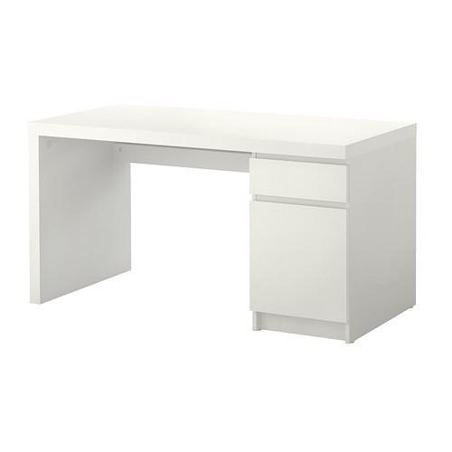 Письменный стол, белый, 140x65 см IKEA MALM 602.141.59