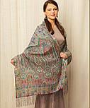 Царский 1159-54, павлопосадский шарф-палантин шерстяной с шелковой бахромой, фото 7