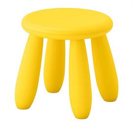 MAMMUT Табурет детский, для дома/улицы желтый, 203.823.24