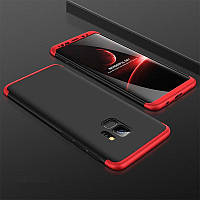 Чехол GKK 360 для Samsung S9 / G960 бампер накладка Black-Red