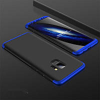 Чехол GKK 360 для Samsung S9 / G960 бампер накладка Black-Blue