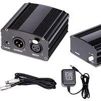 Источник блок фантомного питания 48В для конденсаторного микрофона