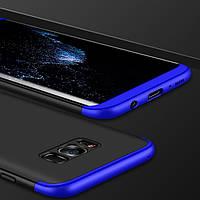 Чохол GKK 360 для Samsung Galaxy S8 / G950 бампер накладка Black-Blue