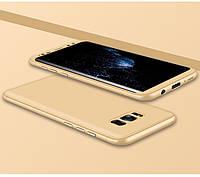 Чохол GKK 360 для Samsung Galaxy S8 / G950 бампер накладка Gold