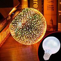 Лампа светодиодная декоративная 3D Фейерверк G80 E27 LED ночник