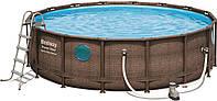 Bestway 56725, каркасный бассейн Rattan Frame Pools, фото 1