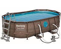 Bestway 56716, каркасный бассейн Rattan Frame Pools, фото 1