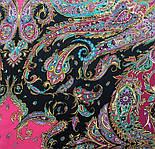 Восточные сладости 1429-18, павлопосадский платок (шаль, крепдешин) шелковый с шелковой бахромой, фото 4
