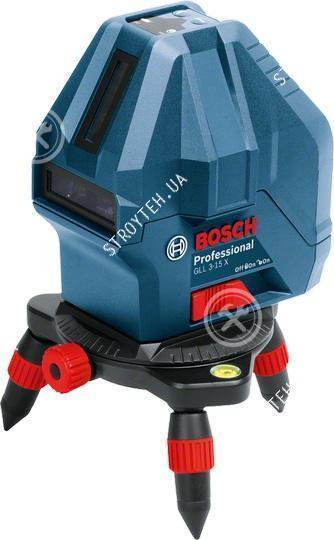 Bosch GLL 3-15 X Professional Линейный лазерный нивелир + мини штатив (0601063M00)