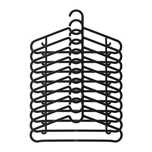 Набор вешалок для одежды IKEA SPRUTTIG 10 шт черный 203.170.79