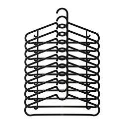 Набір вішалок для одягу IKEA SPRUTTIG 10 шт чорний 203.170.79