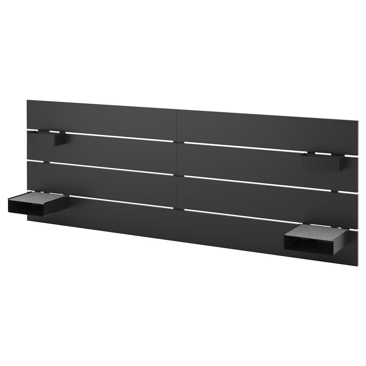 Изголовье кровати IKEA NORDLI антрацит 903.729.77