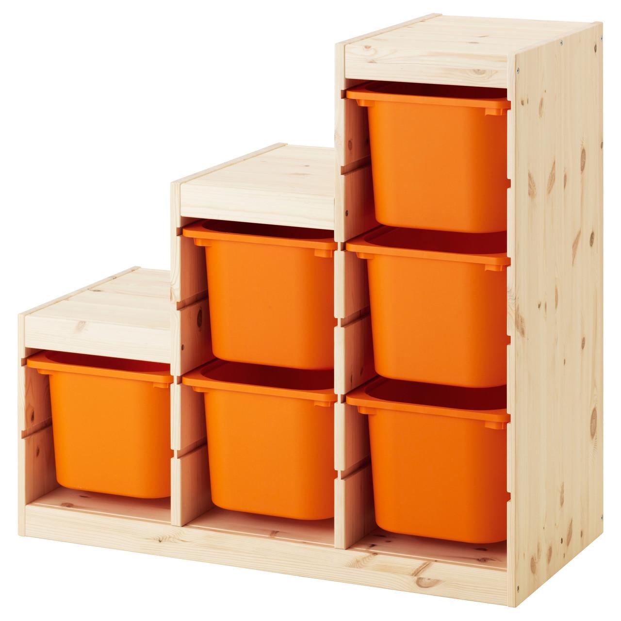 TROFAST Стеллаж, сосна, оранжевый 691.022.23