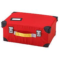 FLYTTBAR Чемодан для игрушек, красный 703.288.53