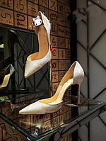 Красивые блеск туфли с острым носком ,свадебные туфли, фото 1