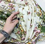 Отрада 678-3, павлопосадский платок шерстяной  с шерстяной бахромой, фото 5