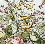 Отрада 678-3, павлопосадский платок шерстяной  с шерстяной бахромой, фото 4