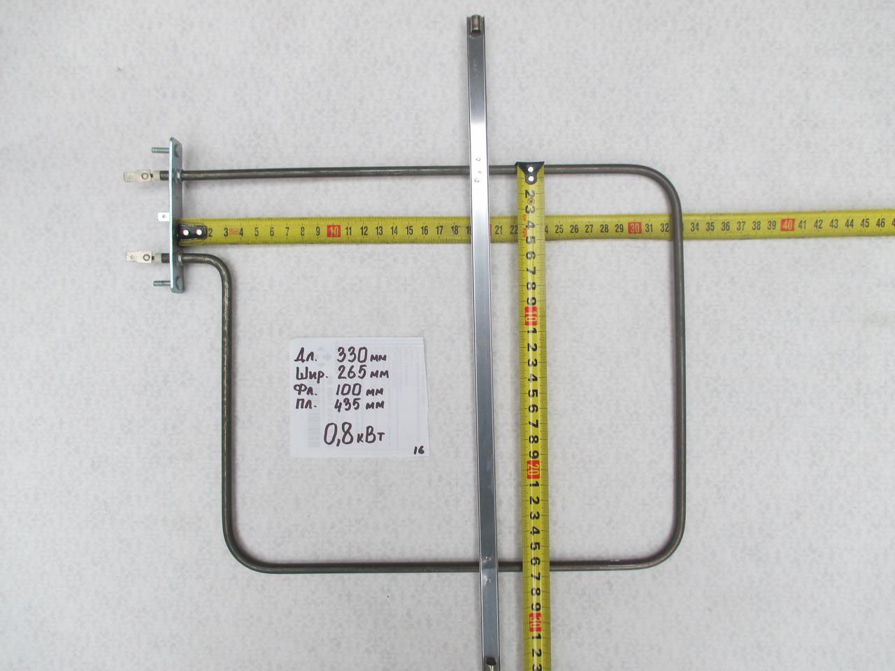 Тен для духовки 0.8 кВт 330x265 мм