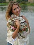 Отрада 678-3, павлопосадский платок шерстяной  с шерстяной бахромой, фото 2