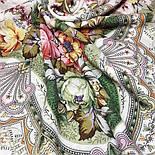 Отрада 678-3, павлопосадский платок шерстяной  с шерстяной бахромой, фото 8