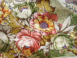 Отрада 678-3, павлопосадский платок шерстяной  с шерстяной бахромой, фото 3