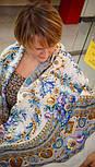 Слова любові 1688-4, павлопосадский вовняну хустку з шовковою бахромою, фото 5