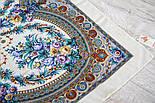 Слова любові 1688-4, павлопосадский вовняну хустку з шовковою бахромою, фото 8