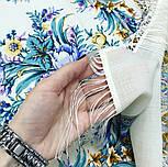 Слова любові 1688-4, павлопосадский вовняну хустку з шовковою бахромою, фото 3