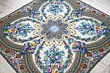 Слова любові 1688-4, павлопосадский вовняну хустку з шовковою бахромою, фото 7