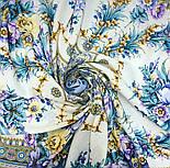 Слова любові 1688-4, павлопосадский вовняну хустку з шовковою бахромою, фото 6
