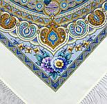 Слова любові 1688-4, павлопосадский вовняну хустку з шовковою бахромою, фото 4