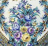 Слова любові 1688-4, павлопосадский вовняну хустку з шовковою бахромою, фото 2