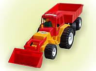 Трактор з прицепом і ковшем  (Ч)