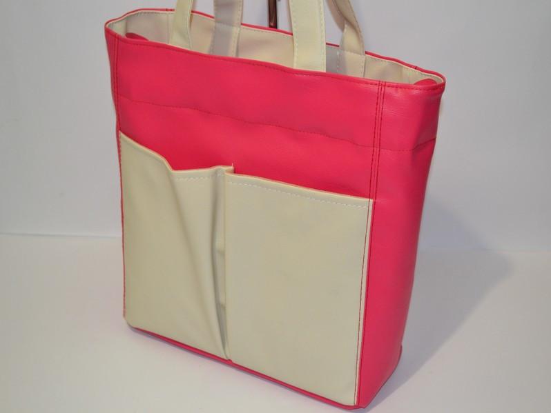 d0ed1504e9cf Женская сумка тоут розово-бежевая - Интернет-магазин