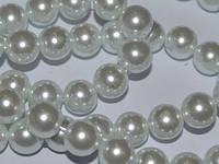 Бусина керамическая жемчужная 12 мм нить 65 бусин