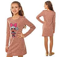 Детское платье для девочки с куклой лол