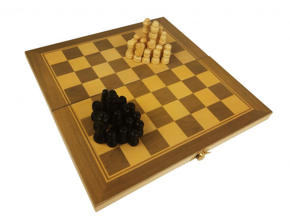 Шахматы 28A 3в1(шашки,нарды), в кульке, 27,5-14-3,5см (D)