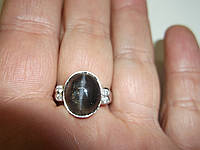 Изящное серебряное колечко со скаполитом, размер 17,5 от студии LadyStyle.Biz