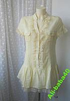 Платье женское лето мини хлопок кружево нарядное бренд Uno Core р.46