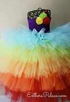 """Карнавальна сукня-спідниця з фатину """"Веселка"""", фото 3"""
