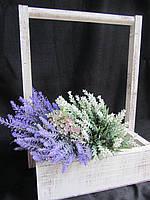 Ящик для цветов, дерево 27,5Х27,5Х40 145\115) (цена за 1 шт. +30 грн.)