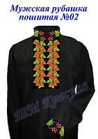 Пошитая мужская рубашка под вышивку №2