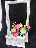 Ящик-кашпо деревянный 15,5х15,5х35, 125\95 (цена за 1 шт. +30 грн.)