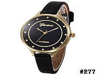 Женские кварцевые наручные часы / годинник Geneva Platinum чёрного цвета (277)